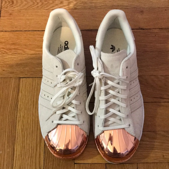 online store 894f9 910a5 Adidas SuperStar 80's cream w. rose gold metal toe